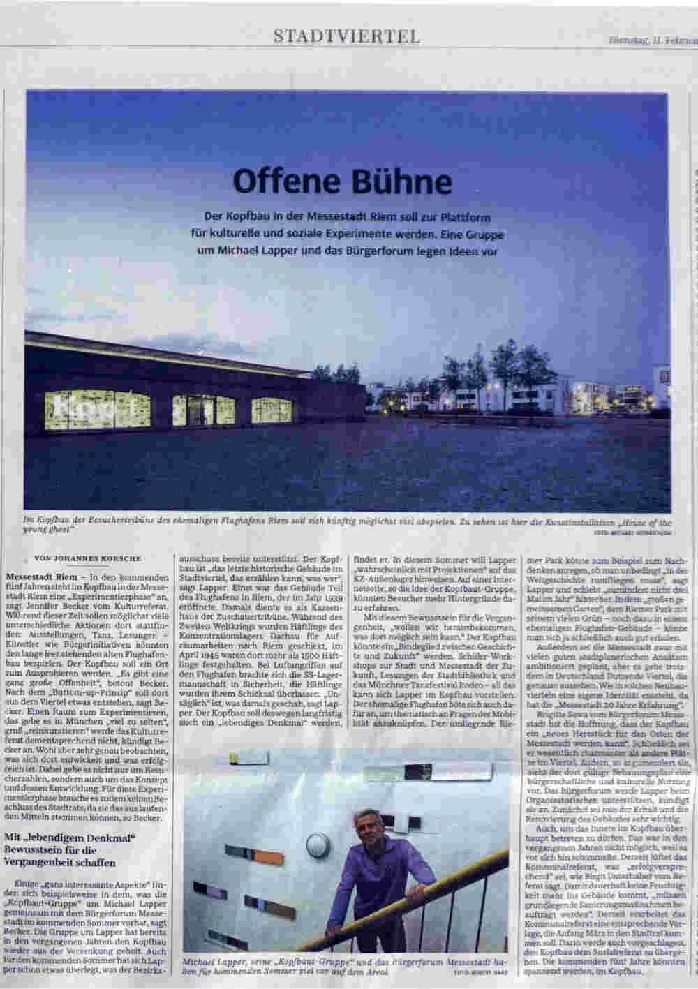 Offene Buehne SZ-Artikel