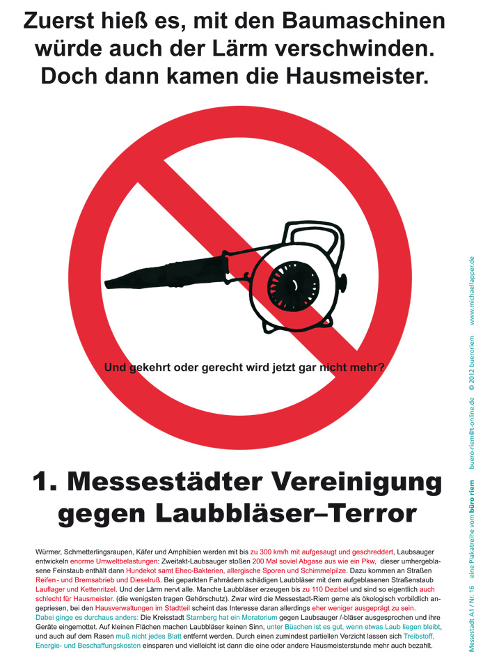 Plakat Laubsauger